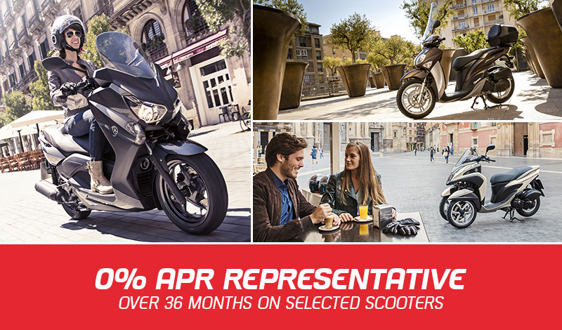 0% finance on Selected Scooters